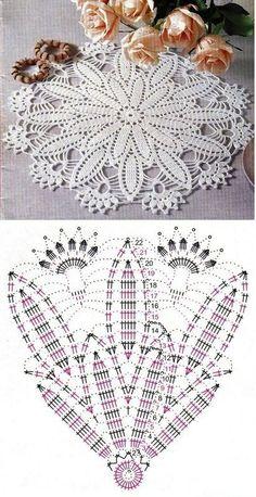 New Ideas For Crochet Rug Diagram Lace Doilies Crochet Doily Diagram, Crochet Doily Patterns, Crochet Mandala, Crochet Chart, Thread Crochet, Filet Crochet, Diy Crochet, Crochet Designs, Crochet Stitches