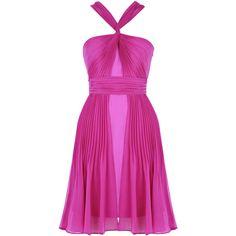 Warehouse Twist Halter Dress