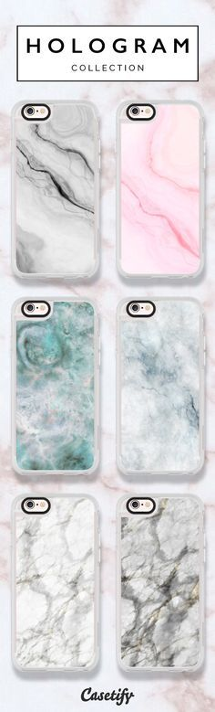 6 most popular marble iPhone 6 protective phone cases | Click through to see more marble iphone phone case ideas >>> https://www.casetify.com/hologram/collection | @casetify