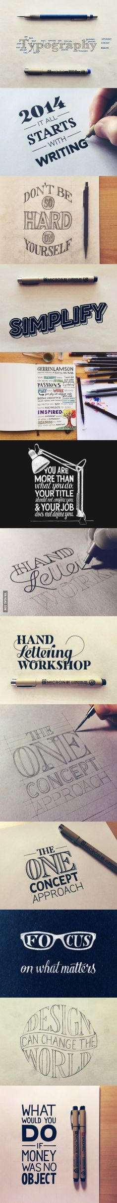 Awesome collection of hand lettering