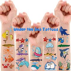200 PCS Ocean Theme Temporary Tattoos for Kids, Beach Pool Under The Sea Decorations Birthday Party Supplies Favors, ... Tattoos For Kids, Fake Tattoos, Beach Supplies, Party Supplies, Ocean Theme Tattoos, Under The Sea Decorations, Beach Kids, Beach Pool, Construction Theme