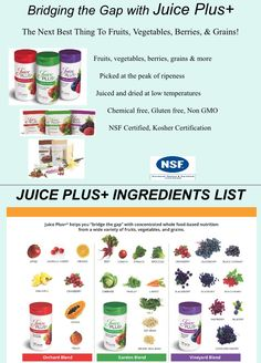 What is Juice Plus http://sewall.juiceplus.com