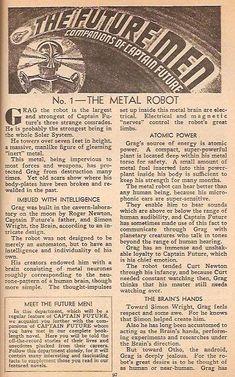 Meet the Futuremen - No. 1 The Metal Robot pg. 1