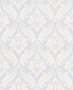 30-158 Kelly Hoppen Vintage Flock: Pure White Wallpaper.