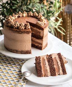 Layer cake au chocolat, My Favorite, Homemade Vanilla Cake, Easy Vanilla Cake Recipe, Chocolate Cake Recipe Easy, Homemade Cake Recipes, Chocolate Recipes, Chocolate Drip, Cake Chocolate, Layer Cake Recipes, Sheet Cake Recipes