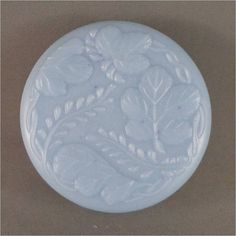 Round Guest Soap with Floral Leaves Pattern by smellycatsoaps