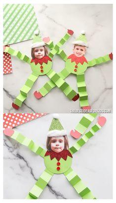Kids Crafts, Preschool Christmas Crafts, Christmas Decorations For Kids, Christmas Crafts For Kids To Make, Toddler Crafts, Christmas Projects, Christmas Fun, Craft Kids, Kids Winter Crafts