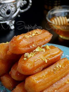 balah el sham patisserie Plus Chhiwat Ramadan, Ramadan Desserts, Ramadan Recipes, Arabic Dessert, Arabic Sweets, Arabic Food, Algerian Recipes, Lebanese Recipes, Algerian Cookies Recipe