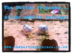 Sterling silver smartie earrings.