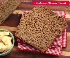 Sarah's Molasses Brown Bread | Crosby's Molasses. A super easy yeast bread that's sweet and chewy, richly flavoured with molasses. Made with whole wheat flour and rolled oats.