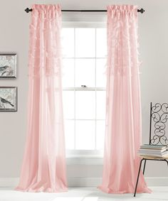 Look at this Pink Ruffle Curtain Panel - Set of Two on #zulily today!