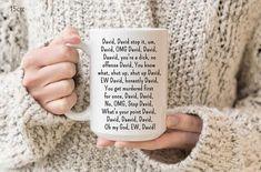Schitt's Creek tv show merch Ew David, Um, David Shut Up. Schitt's creek tv show gift David Rose mug New Job Gift, Leaving Work, Leaving Gifts, David Rose, Schitts Creek, Good Luck, Grandma Gifts, Handmade Design, Shut Up