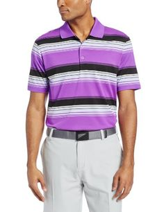 3a791a6135a9b5 adidas Golf Men s Puremotion Merch Stripe Polo