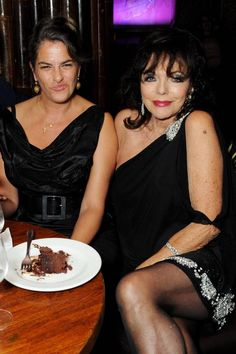Dave Benett      Dinner for two: Joan Collins and Tracey Emin at Mahiki
