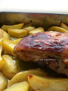 Greek Oven-Roasted Leg of Lamb with Potatoes