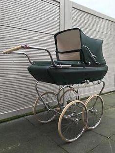 Vintage kinderwagen Riemersma met nieuwe matras