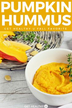 This tasty spin on hummus is delicious! Great for a parties or a healthy snack. I love everything pumpkin so make this all year round, but it's perfect around Thanksgiving and Fall. Lot's of protein in this dish from the garbanzo beans and the pumpkin itself, so it should keep you satisfied longer. #pumpkin #pumpkinrecipes #fallrecipes #fallfavorites #pumpkinhummus #hummusrecipe #snacks
