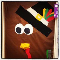 Thanksgiving classroom door.
