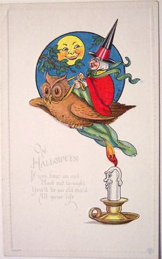 Vintage Halloween postcard shared by riptheskull on Flickr.