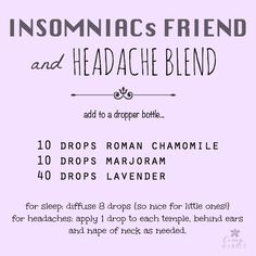 All in One Blend for Sleep and Tension Headaches