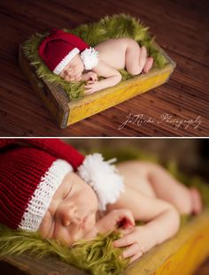 Since baby Wyatt was born just a few days before Christmas, the elf ...