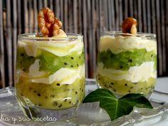 Receta Vasitos de kiwi con queso mascarpone para Mam07 - Petitchef