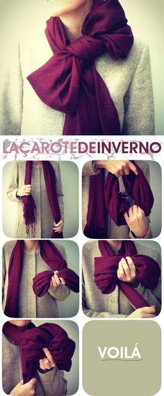 Amarrações de lenços para o inverno Fashion Blog MeninaIT                                                                                                                                                                                 Mais