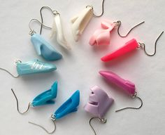 Upcycled Barbie shoe earrings — neat!