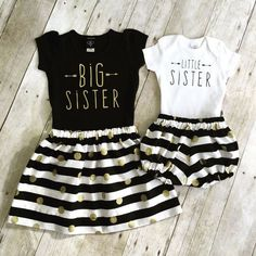 Absolutely adorable girls big sister and little sister outfit! Listing includes skirt, big sister shirt, shorties and onesie. There are many (scheduled via http://www.tailwindapp.com?utm_source=pinterest&utm_medium=twpin&utm_content=post88969679&utm_campaign=scheduler_attribution)