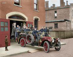 1911 Packard firetruck (colorized) - via Reddit