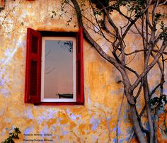 open window, athens #red
