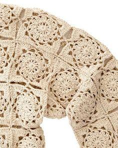 Crochet Coat, Crochet Jacket, Crochet Cardigan, Thread Crochet, Crochet Clothes, Crochet Stitches, Crochet Bolero Pattern, Crochet Diagram, Crochet Motif