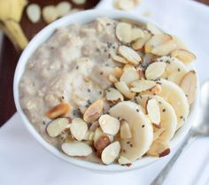 """""""This high-protein oatmeal is one of my favorite healthy breakfast recipes to start the day on the right foot. It's fast and easy to make (you can make it on the stovetop for a larger portion, or follow the microwave instructions for a faster single-serve option) and unlike most oatmeal, it will actually keep you full and satisfied for more than five minutes."""""""