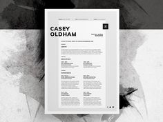 Resume/CV - 'Casey' by Bill Mawhinney New minimal Resume/CV template (including Cover Letter). Continuing a (hopefully) new approach to resume/cv layout design. more designs soon. Cv Design, Resume Design, Layout Design, Branding Design, Graphic Design, Design Ideas, Design Inspiration, Cv Cover Letter, Cover Letter Template