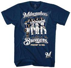 cc4174208 MLB Kiss-Kiss Brewers Dressed Sports T-Shirt Milwaukee Brewers