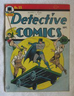 Detective Comics #55 (Sep 1941, DC) Bob Kane cvr VG- 3.5