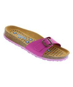 86e7af9c126 Fuchsia Sanosan SL Malaga Nappa Leather Slide -