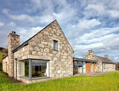Stone and glass Torispardon House is a modern take on traditional Scottish farmhouses | Inhabitat - Sustainable Design Innovation, Eco Architecture, Green Building