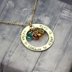 14 karat Gold clad #Mommynecklace, necklace for moms, mother, mommy jewelry, mom charms, name necklace, children names by InspiredByBronx on Etsy https://www.etsy.com/listing/468338723/14-karat-gold-clad-mommy-necklace