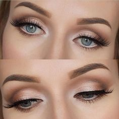 classic and simple eye makeup