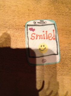 Little iPhone I made for my American girl dolls.. Cutest thing ever! Even has a phone case on the back!
