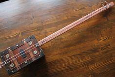 Cigar Box Style Bass Guitar 2 String by MonkeyPox on Etsy