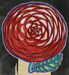 "Charles Rennie Mackintosh, drawing for textile design ""Chrysanthemum"", Via Hunterian Art Nouveau, Art Deco, Charles Rennie Mackintosh, Textile Design, Floral Design, Fabric Design, Glasgow School Of Art, Art Graphique, Arts And Crafts Movement"