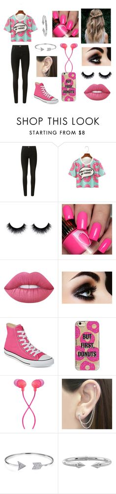 """""""Donuts"""" by silvermoon999 ❤ liked on Polyvore featuring J Brand, Lime Crime, Converse, Agent 18, The House of Marley, Otis Jaxon, Bling Jewelry and Vita Fede"""