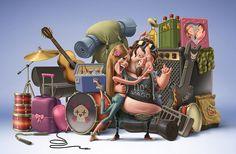 Creative Cartoonish Illusions By Oscar Ramos   Cuded