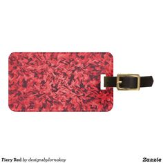 Fiery Red Luggage Tag