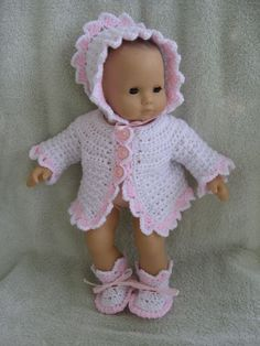Free Crochet Baby Doll Pants Patterns | How to Crochet Doll Clothes for Any Size Baby Doll - Associated