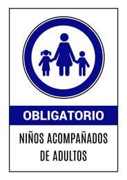 Senal Obligatorio Ninos Acompanados De Adultos Senalizacion