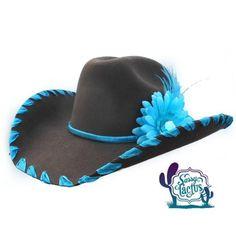 Ribbon Whipstich and Plume Felt Cowboy Hat b81ff10a6df6
