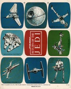 Return of the Jedi Greeting Card | Via: WalkingCarpet.net | #starwars #returnofthejedi